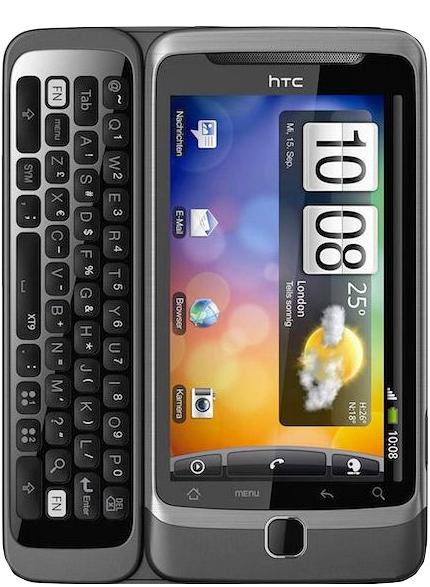 Réparation vitre tactile cassée ou écran cassé sur HTC Désire Z Paris 12ème Montgallet