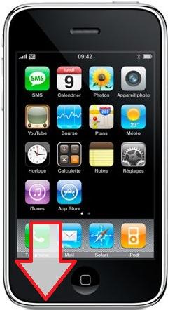 Réparation iPhone 3G/3GS haut parleur du bas Paris 12ème Montgallet