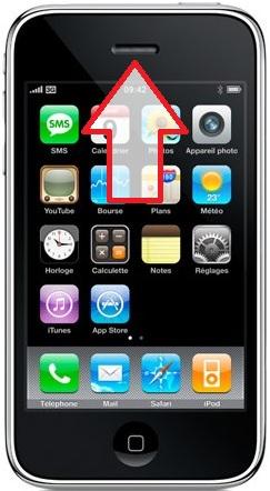 Réparation iPhone 3G/3GS haut parleur du haut Paris 12ème Montgallet