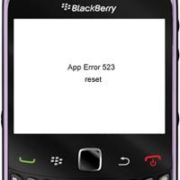 comment réparer error 523 blackberry