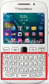 reparation clavier blackberry curve 9320