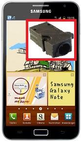Réparation de la prise jack sur un Samsung Galaxy Note i9220 N7000, prise casque, prise écouteur
