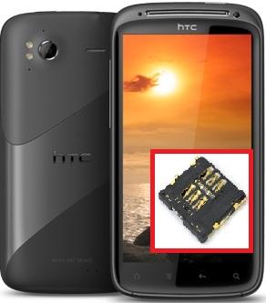 Réparation, remplacement du lecteur de la carte sim sur HTC Sensation, lecteur carte sim cassé...