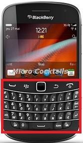 Réparation Clavier BlackBerry Bold 9900, ne marche plus, déconne, défectueux