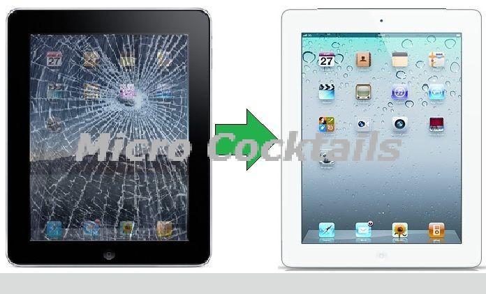 Réparation vitre tactile cassée iPad 4 Paris