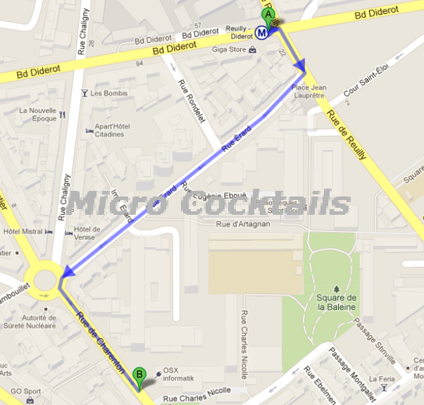 Plan D Acces Au Magasin Micrococktails Centre R 233 Paration Paris Montgallet Porte Maillot La