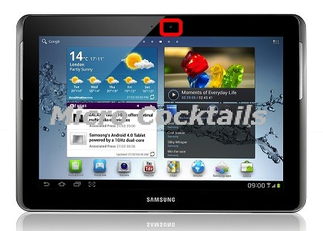 remplacement caméra avant galaxy Tab2 P5110