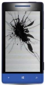 Remplacement écran lcd cassé HTC 8S