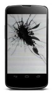 Réparation écran LCD cassé Nexus 4