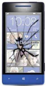 Remplacement vitre cassée HTC 8S