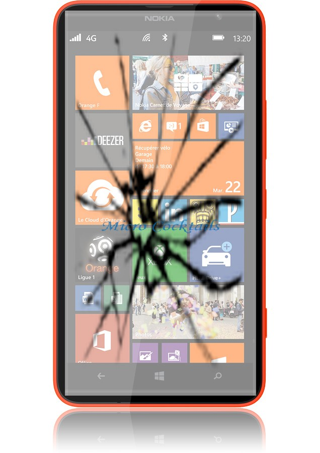 reparation vitre nokia lumia 1320