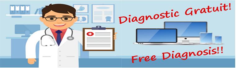 Bonne Nouvelle! Nos diagnostics sont gratuits!!