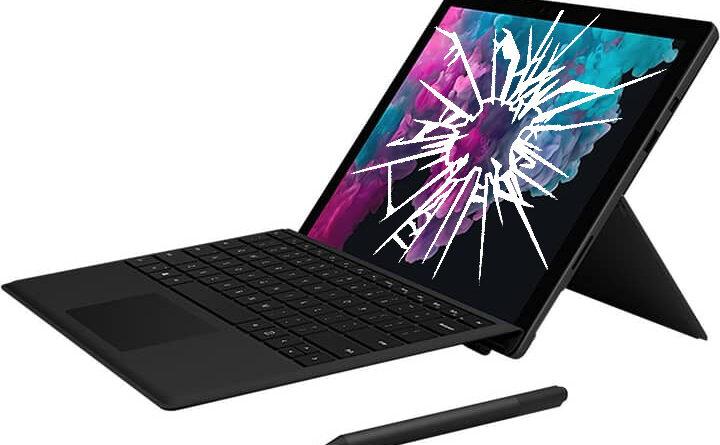 Réparation écran cassé vitre cassée Microsoft Surface Pro 7